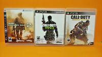 PS3 Sony Playstation 3 GAME Lot - Call of Duty Modern Warfare 2, 3, Advanced War