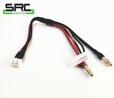 SRC 2005 Receiver/Nitro Servo Battery Charge Cable 2S Balance to 4mm Banana