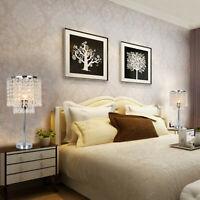 Bedside Crystal Table Lamp Elegant Decorative Desk Lamp With Crystal Shade