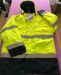 Warnjacke, gelb, Planam , WetterschutzParka, 3M Ausrüstung, Gr. 2XL neu