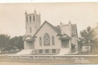 SUTHERLAND IA – M. E. Church Real Photo Postcard rppc