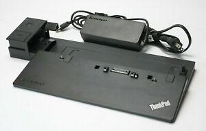 Lenovo ThinkPad T450 T540 X250 Pro Dock Docking Station 40A1 Power Supply & Keys
