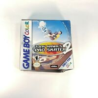 Tony Hawk's Pro Skater 2 (Nintendo Game Boy Color, 1999) Complete in Box