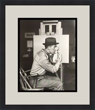Norman Rockwell Photo Studying his Art Custom Framed Print Free Shipping