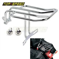 Chrome Color Rear Fender Luggage Rack Fits for 86-05 Harley Softails FLST Stell