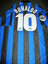 Ronaldo Inter Milan 1997 1998 DEBUT Jersey Shirt Maglia Real Madrid Barcelona XL