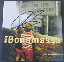 "Joe Bonamassa  Autographed ""So It's Like That"" LP Album Signed PSA DNA COA"