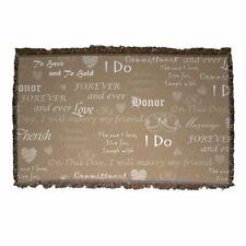 Wedding Love Pattern - Woven Blanket - Design 1