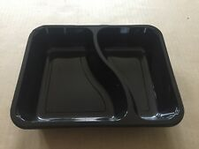 50x FERCH 2 Portion Disposable Plastic Food Trays 225x175x40mm NEW
