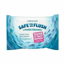 Natracare Safe to Flush Tiss 30wipes (7 Pack)