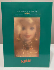 Collectible Porcelain Holiday Jewel 1995 Barbie Doll14311