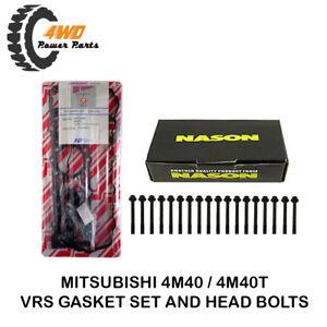 Mitsubishi Pajero, Triton, Delica, Canter 4M40 4M40T VRS Gasket Set & Head Bolts