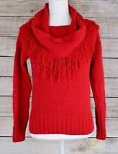 Charter Club 2PC Chenille Infinity Scarf Sweater Set Pullover Red Petite PM NWT