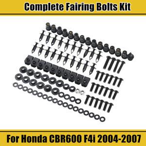 For Honda CBR600F4i 2004 2005 2006 2007 Stainless Fairing Bolts Screws Fastener