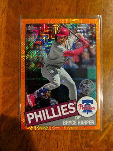 2020 Topps Bryce Harper Silver Pack Orange Refractor #/25