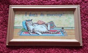 I Don't Do Mornings Framed Plaque