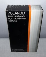 POLAROID TYPE 55 POSITIVE/NEGATIVE 4x5 BLACK & WHITE LAND FILM 20 PRINTS SEALED