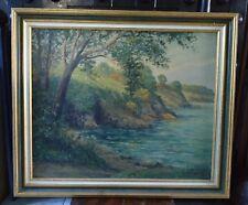 Huile sur toile Emile GAUFFRIAUD signé daté 1924 / Tableau peinture paysage