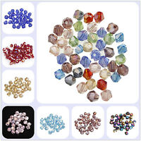 100pcs 4mm Bicone Glass Crystal Spacer Loose Beads AB Color for Jewelry Making