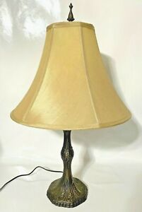 """Vintage Art Deco Style 27"""" 3-Way Metal Table/Desk Lamp with Shade"""