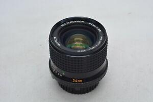 [Near Mint] Minolta MD W Rokkor 24mm F/2.8 Wide Angle MF Lens From Japan #3249