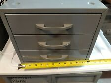 Vintage Industrial Metal 3 Drawer Parts Tool Chest Cabinet Organizer