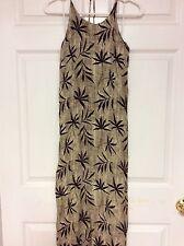 Womens dress size M Brown A-Line halter top casual rayon Liz Claiborne  62