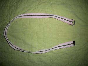 Girls Pink with green and white Stripes*Woven Ribbon belt*32""