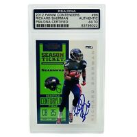 Panini 2012 Contenders Richard Sherman Rookie RC Card PSA/DNA Auto #86 Authentic