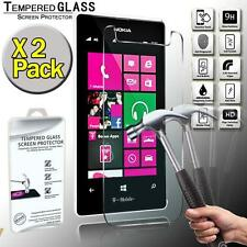 2 Pack Real Tempered Glass Screen Protector Cover For Nokia Lumia 521