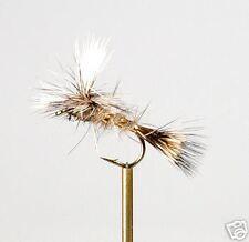 12 Gold Ribbed H Ear Parachute Fly Fishing Flies #10,12
