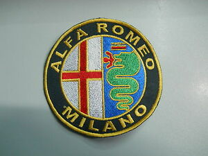 PATCH TOPPA ALFA ROMEO EMBROIDERY RICAMATO TERMOADESIVO diametro cm 10