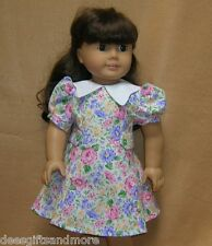Doll Clothes fitting 18 inch Dolls 1930 Princess Style Floral Dress+