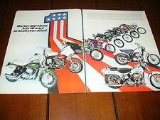 1971 HARLEY DAVIDSON SPORTSER SUPER GLIDE ELECTRA GLIDE - ORIGINAL 2 PAGE AD
