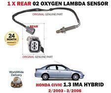 POUR HONDA CIVIC IMA 1.3 Hybrid ES9 LDA1 Arrière 2003-2006 02 OXYGEN CAPTEUR LAMBDA