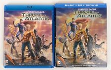 New listing Justice League Throne of Atlantis Blu Ray With Slipcover 2-Disc Set