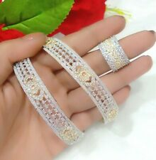 Bollywood Fashion Jewelry Lady's Love Imitation Diamond Stone Bangle Ring Set