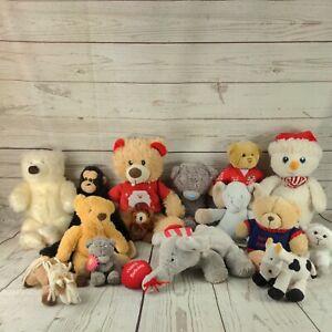 15 X JOB LOT BUNDLE OF  MIXED KIDS SOFT PLUSH TOYS TEDDY BEAR (L5)