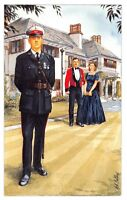 Postcard The Royal Marines, Major, Captain, Lake House, Poole, by Geoff White