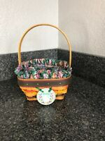 Longaberger Early Harvest Work A Round Around or 2002 Pot of Gold Basket Liner