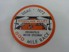 1972 Indianapolis 500 Event Collector Decal Old Stock IMS Indy 500