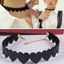 Lovely Women Girls Black Velvet Love Hearts Choker Chic Collar Necklace Jewelry
