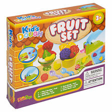 16 Pc Fruit Modelling Play Dough Set Kids Toys Craft Shapes Tubs Gift Xmas Game