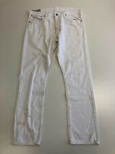 N255 MENS POLO RALPH LAUREN WHITE STRAIGHT LEG DENIM JEANS UK XL W36 L32-34