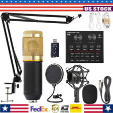 BM800 Professional Condenser Mic/V8 Sound Card Kit Free Combination Set For Live