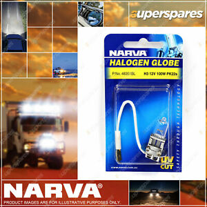 Narva H3 Halogen Globe 12V 100W Pk22S 48351BL Blister Pack for volvo