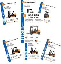 Ersatzteiliste STILL R70-16 bis 20T Typ 7077-7079 Treibgas Werkstatthandbuch