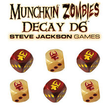 Munchkin Zombies Decay D6 Dice Game Expansion Steve Jackson Games SJG 5563 OOP