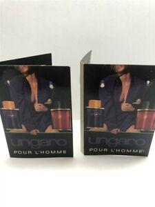 Lot of 2 Sets Ungaro Pour L'Homme Eau de Toilette Samples for Men, Old Formula!