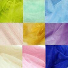 "Glitter Tulle Fabric Bolt 54""X10yds Wedding Bridal Party Decoration Tutu Craft"